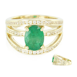 9K Sao Francisco Emerald Gold Ring (Annette) 9118NH