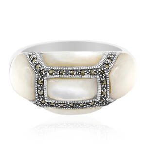 Mother of Pearl Silver Ring 9119JP