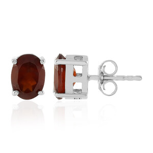 Hessonite Garnet Silver Earrings 9134CJ