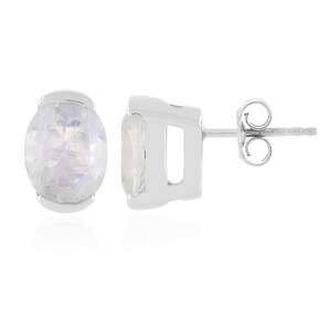 Rainbow Moonstone Silver Earrings 9161GJ