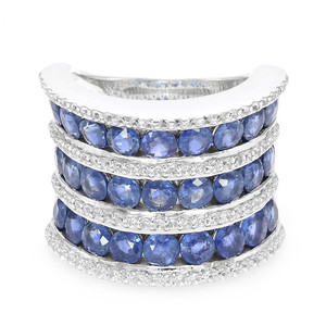 Laos Sapphire Silver Ring (Annette) 9177CT