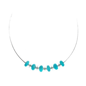 Amazonite Silver Necklace 9200NE