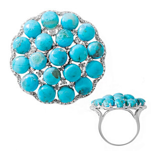 Kingman Blue Mojave Turquoise Silver Ring 9305NF