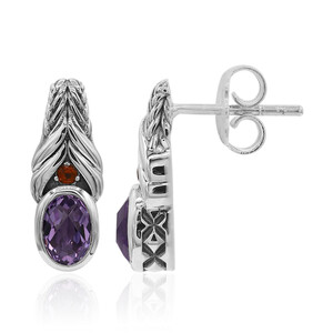 Amethyst Silver Earrings (TPC) 9311EH