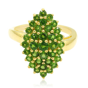 Russian Diopside Silver Ring 9489NN
