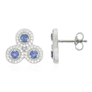 Kanchanaburi Sapphire Silver Earrings (Cavill) 9509IT