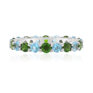 Russian Diopside Silver Ring 9562IM