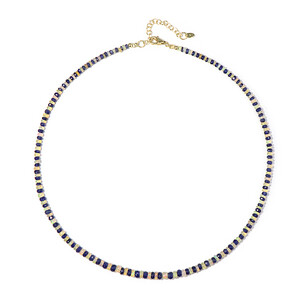 Blue Sapphire Silver Necklace 9563RG