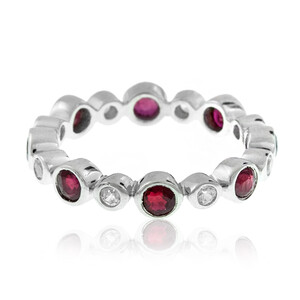 Mozambique Ruby Silver Ring 9812NC